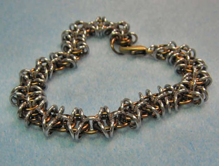 How to Make chainmail jewelry using the Byzantine chain pattern