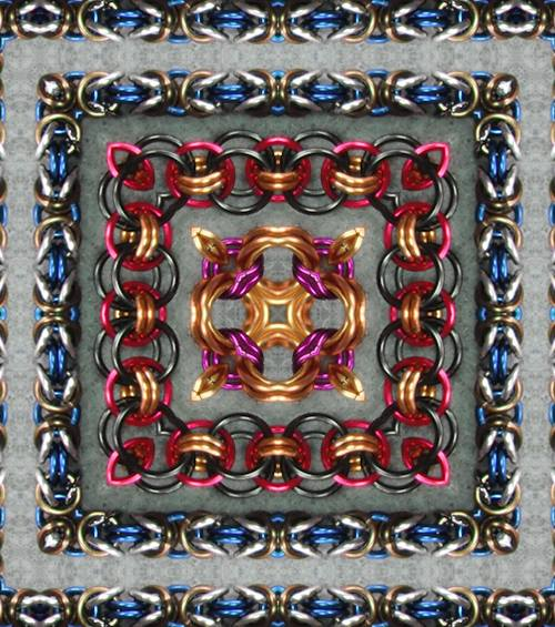 Chain Maillle Kaleidoscope Fun